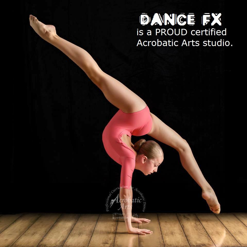 DFX is Proud to be a Certified Acrobatic Arts Studio